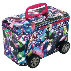 仮面ライダーリバイス バス缶 (手提げ缶ケース) プラバッジ入り [お菓子詰め合わせ] ハート|akism