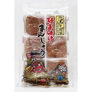 フジタ製菓 なまはげみそまんじゅう 6個入|akita-bussan