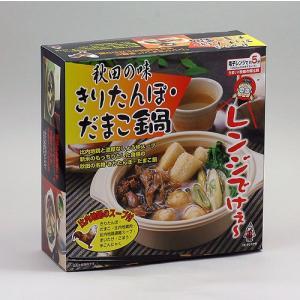 タンポヤ林 秋田の味 きりたんぽ・だまこ鍋|akita-bussan