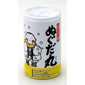 秋田清酒 出羽鶴 ぬぐだ丸火入れ缶 180ml|akita-bussan