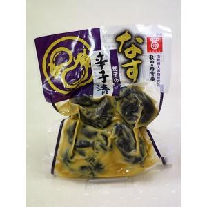 浅舞婦人漬物研究会 秋田の田舎漬け 茄子の辛子漬|akita-bussan