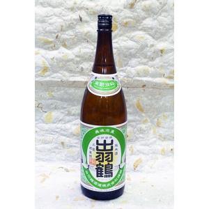 秋田清酒 出羽鶴 生もと仕込純米酒 1800ml カートンなし|akita-bussan