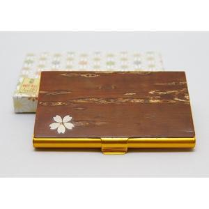八柳 樺細工 カードケース桜|akita-bussan