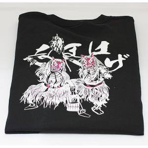 佐々木民芸 なまはげTシャツ黒  (Lサイズ)|akita-bussan