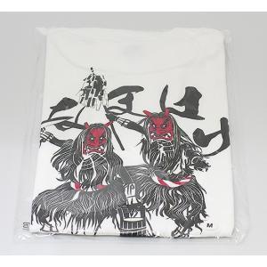 佐々木民芸 なまはげTシャツ白(サイズM・L)|akita-bussan
