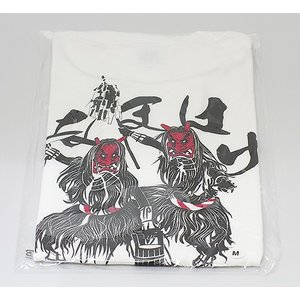 佐々木民芸 なまはげTシャツ白  (Lサイズ)|akita-bussan