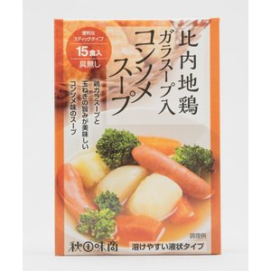 秋田味商 比内地鶏ガラスープ入コンソメスープ12g×15食入|akita-bussan