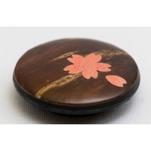 八柳 樺細工 マグネット丸 桜|akita-bussan