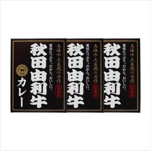 秋田由利牛カレー(200g×3個)日本最高峰の牛肉を贅沢に使った高級カレー[秋田かまくらミート]|akitagokoro