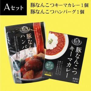 豚なんこつAセット キーマカレー×1 ハンバーグ×1【白神屋】|akitagokoro
