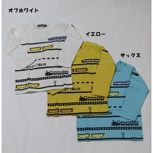 子供服 男の子 長袖 電車Tシャツ ニコフラート nico hrat 90cm 95cm 100cm 110cm 120cm 130cm 50%OFF メール便OK BW73|akitaoutlet