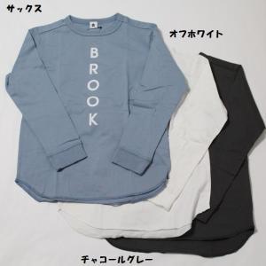 子供服 男の子 女の子 長袖 BROOK ロングTシャツ ジーンズベー jeans-b 100cm 120cm 130cm 140cm 150cm 160cm 50%OFF メール便OK BW68.74.102|akitaoutlet