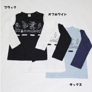 子供服 男の子 女の子 モンスタースケボー長袖Tシャツ jeans-b2nd. 80cm 90cm 95cm 100cm 110cm 120cm 130cm 140cm 150cm 160cm 50%OFF メール便OK BW68.77.101|akitaoutlet