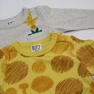 子供服 男の子 長袖 2柄2PTシャツ ビッツ BIT'Z 90cm 95cm 100cm 110cm 120cm 55%OFF メール便OK FW141|akitaoutlet|04