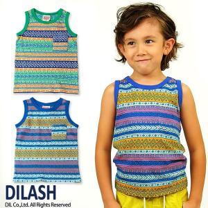子供服 男の子 ジャガード織タンクトップ ディラッシュ DILASH 80cm メール便OK DS1