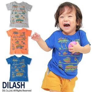 子供服 男の子 半袖 南国柄Tシャツ ディラッシュ DILASH 70cm メール便OK DS1