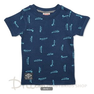 子供服 男の子 半袖 ロゴ総柄Tシャツ 80cm 100cm ディラッシュ 70%OFF メール便OK LS16|akitaoutlet
