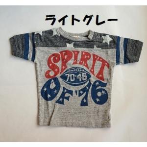 子供服 男の子 半袖 スピリット76フットボールTシャツ オフィシャルチーム OFFICIAL TE...