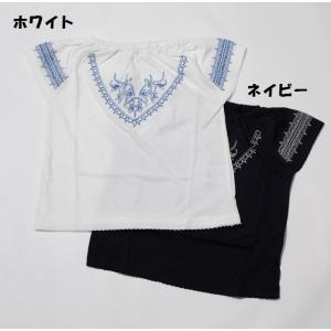 子供服 女の子 半袖 刺繍Tシャツ 90cm 100cm 110cm 120cm マーブルミックスマート メール便OK RS28|akitaoutlet