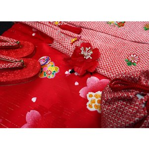 七五三着物 女児三歳用 正絹 新品|akogareyume|02