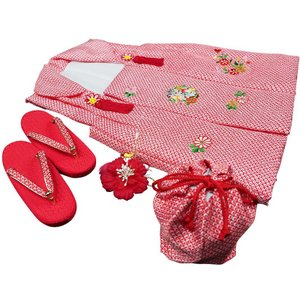 七五三着物 女児三歳用被布セット正絹 新品|akogareyume