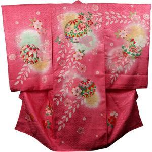 お宮参り着物 女児祝着 初着 産着 正絹のしめ 新品|akogareyume
