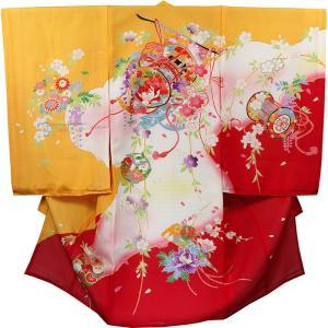 お宮参り 着物 女児祝着 初着 産着 絽(夏専用)正絹のしめ 新品|akogareyume
