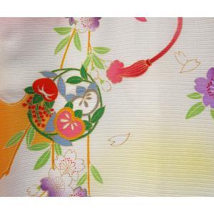 お宮参り 着物 女児祝着 初着 産着 絽(夏専用)正絹のしめ 新品|akogareyume|04