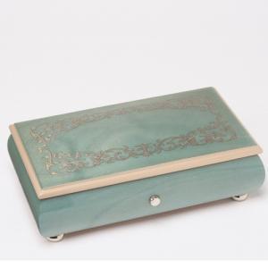 オルゴール 幸せの青い小箱 ノクターン オパリーン|akoorgel