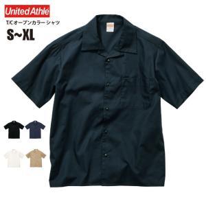 T/C オープンカラー シャツ #1759-01 S M L XL メンズ|akorei