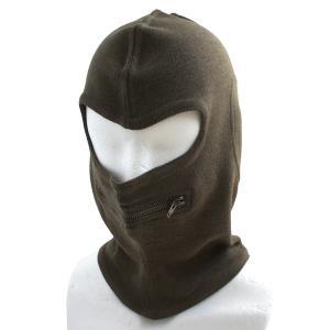 イタリア軍放出 バラクラバ目出し帽 ウール HC049NN ブラウン 〔 デットストック 〕 〔 未使用 〕...