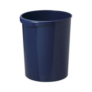 リス WORK&WORK 屑入れ 丸18DB ダークブルー 1個入 (×3)   ゴミ箱