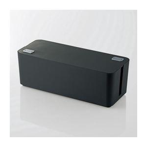 エレコム ケーブルボックス(6個口) EKCBOX001BK(×2)