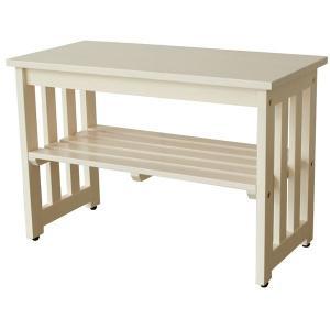 シンプル 玄関ベンチ腰掛け椅子 (ホワイト) 幅60cm 木製 収納棚付き | インテリア・家具