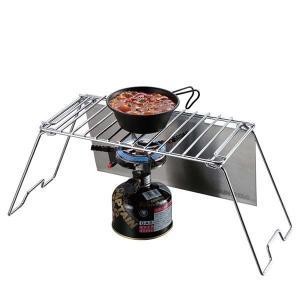 (キャプテンスタッグ) コンロテーブル/キャンプテーブル (幅48cm) 耐荷重2kg 『グリルスタンドテーブル』 (アウトドア) | レジャー用食器・料理用品|aks