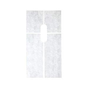 トイレ床模様替えシート/リメイクシート (大理石柄) 防水シート 貼ってはがせる 4分割シート カッ...