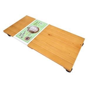 キャスター付き 置台/リビング用品 (60×30cm ライトブラウン) 木製 『マルチリビングキャリ...