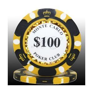 MONTECARLO モンテカルロ・ポーカーチップ(100)黒 25枚セット | テーブルゲーム