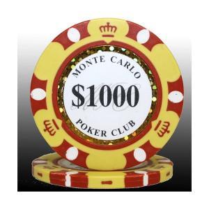 MONTECARLO モンテカルロ・ポーカーチップ(1000)黄 25枚セット | テーブルゲーム