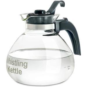 メデルコ 笛吹き ガラスケトル 直火用 1.8L Medelco 12-Cup Glass Stovetop Whistling Kettle WK112