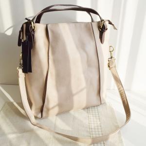 ショルダーバッグ リュックサック トートバッグ 3wayバッグ 合成皮革 グレージュ no.99274 人気 通勤 通学バッグ レディースバッグ 鞄 かばん|akt8