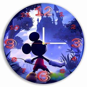 ディズニーワールド掛時計 ウオールクロック 壁掛け 時計 置き時計 かわいい時計 クォーツ ミッキー  シンデレラ城 Disney World Handmade Art Wall Clock