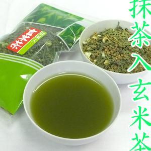 茶 玄米茶 国産 【抹茶入玄米茶】 かわいい花入り 100g|akutsu-chaho