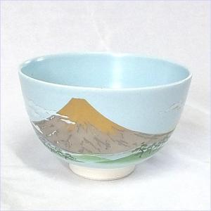 プレミアム会員 抹茶碗 国産 かわいい 金富士 美濃焼 現品抹茶碗|akutsu-chaho