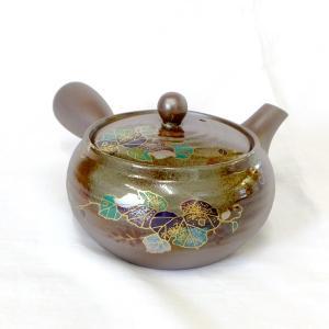 和食器 新回転急須 回る 使いやすい 日本製 【平形万古丸吹くずの花】 akutsu-chaho