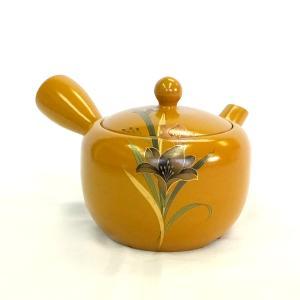 黄色 急須 きゅうす 茶器 食器 陶磁器 新回転急須 【平夏目黄泥フリージア】|akutsu-chaho