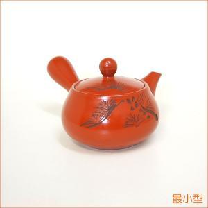 急須 かわいい 1人用 小さい 食器 【栗型朱泥松彫】|akutsu-chaho