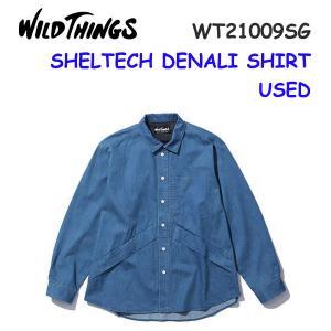 21ss ワイルドシングス  シェルテックデニムデナリシャツ メンズ SHELTECH DENALI SHIRT WT21009SG  カラー USED WILD THINGS 正規品|alajin