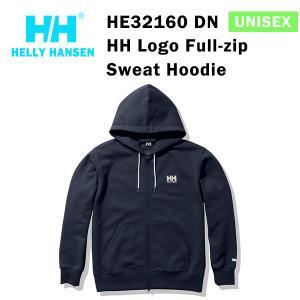 21fw ヘリーハンセン ユニセックス HHロゴフルジップスウェットフーディー HH Logo Full-zip  Sweat Hoodie HE32160  カラー DN HELLY HANSEN 正規品|alajin