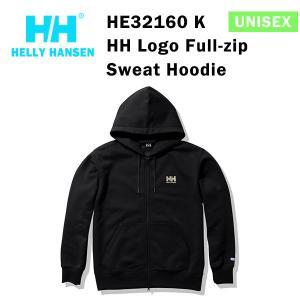 21fw ヘリーハンセン ユニセックス HHロゴフルジップスウェットフーディー HH Logo Full-zip  Sweat Hoodie HE32160  カラー K HELLY HANSEN 正規品|alajin
